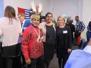 Benny Wenda meeting ILWP Co-founder Jennifer Robinson and Dutch ILWP member, Fadjar Schouten-Korwa
