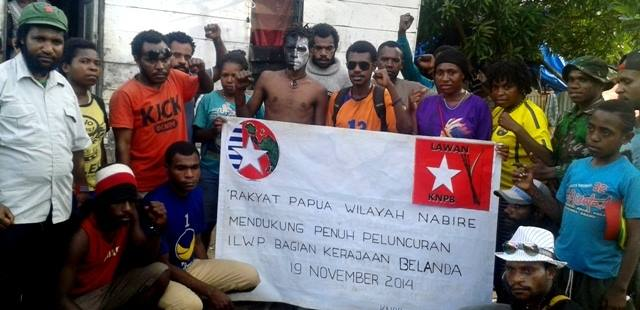 West Papuans in Nabire show their support for the launching of ILWP in the Netherlands. Many of those in this gathering were arrested, with some tortured and 3 people shot
