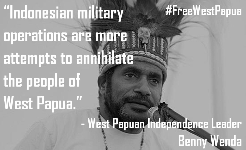 Benny Wenda quote on Indonesianmilitary operations-page-001